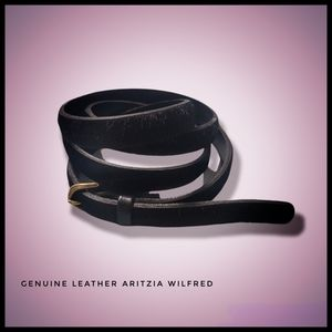 🇺🇸 Wilfred Belt Italian Leather Fuzzy, yet Chic